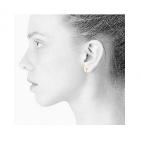 Scherning øreringe, Stella ørestikker, gold, model, danske smykker, Scherning ørestikker, ørestikker stjerne