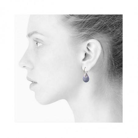 Scherning Øreringe, Splash Teardrop, Lavender/Silver, model, creoler, creoler øreringe, porcelænssmykker