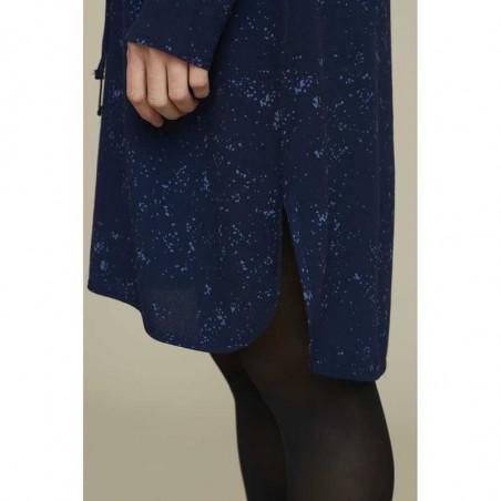 Basic Apparel Kjole, Nicola, Winter Blue, detalje slids, blå kjole