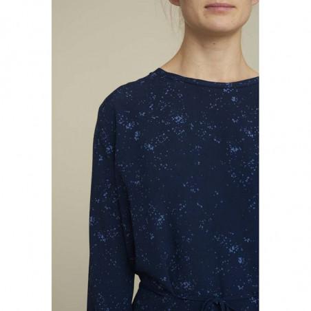Basic Apparel Kjole, Nicola, Winter Blue, detalje skulder, blå kjole