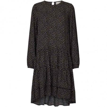 Lollys Landry Kjole, Piper, Black, sort kjole