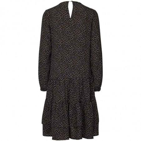 Lollys Landry Kjole, Piper, Black, sort kjole, bagside