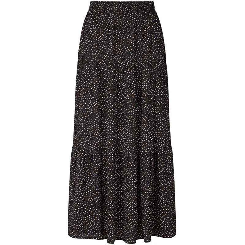 Lollys Laundry Nederdel, Bonny, Black, lang nederdel, sort nederdel