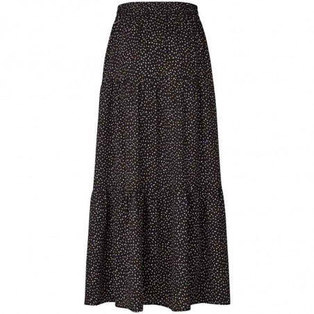 Lollys Laundry Nederdel, Bonny, Black, bagside, lang nederdel, sort nederdel