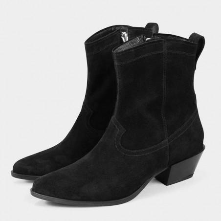 Vagabond Støvler dame, Emily, Black Suede, vagabond Emily, vagabond damesko par