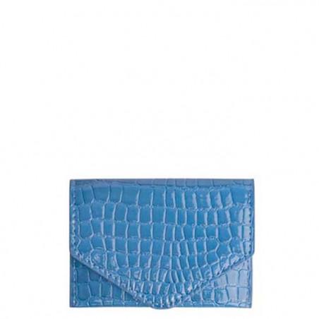 Hvisk Pung, Wallet croco, blue, blå pung