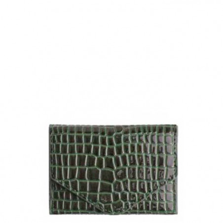 Hvisk pung, Croco, Jungle green, krokodilleskind pung