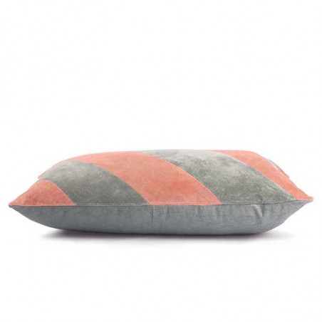 HK Living, Striped Cushion Velvet, Grey/Nude, detalje, pyntepude