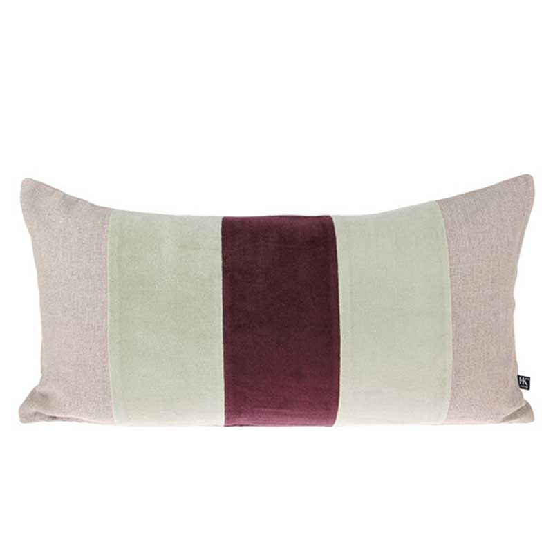 hk living – Hk living pude, velvet cushion 30x60, mint/cherise fra superlove