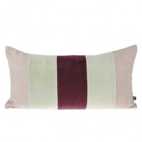 HK Living Pude, Velvet Cushion 30x60, Mint/Cherise, pyntepude