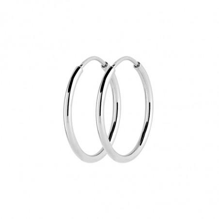 Maria Black øreringe, Senorita 25, sølv, hoop øreringe