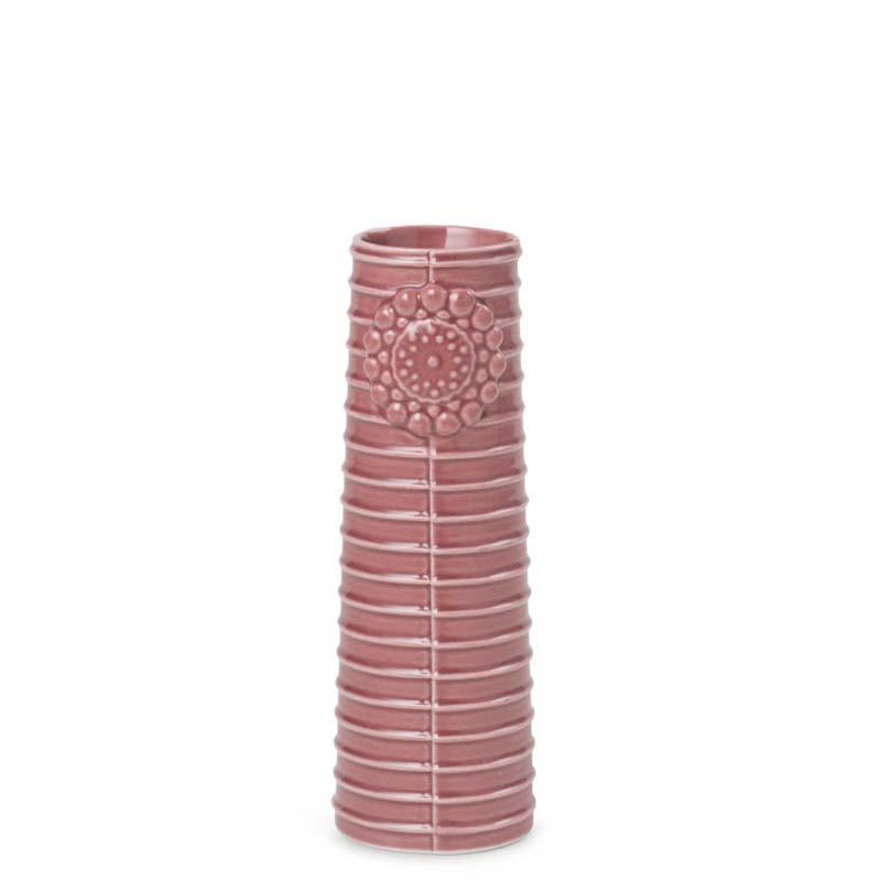 Image of   Finnsdottir Vase, Pipanella Lines Small, Dusty Rose