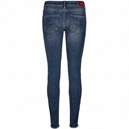 Mos Mosh Jeans, Summer Blossom, Mid Blue Wash - Bagside