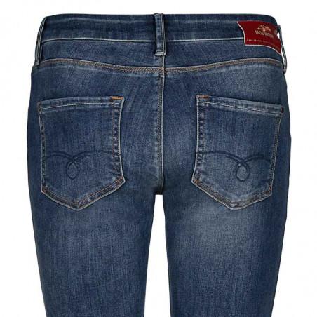Mos Mosh Jeans, Summer Blossom, Mid Blue Wash - Detalje