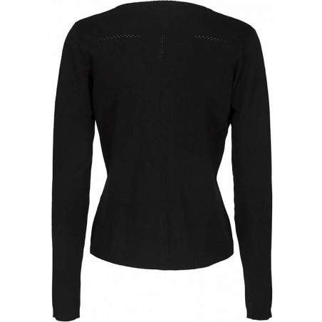 Minus Cardigan New Laura V-Neck, Black bagside
