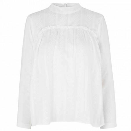 Storm og Marie Bluse, Linnea, White, bæredygtigt tøj, økologisk bomuld