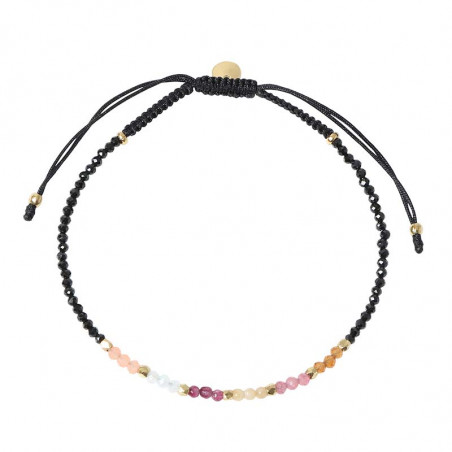Stine A Armbånd, Rainbow Mix, Berry Mix/Black