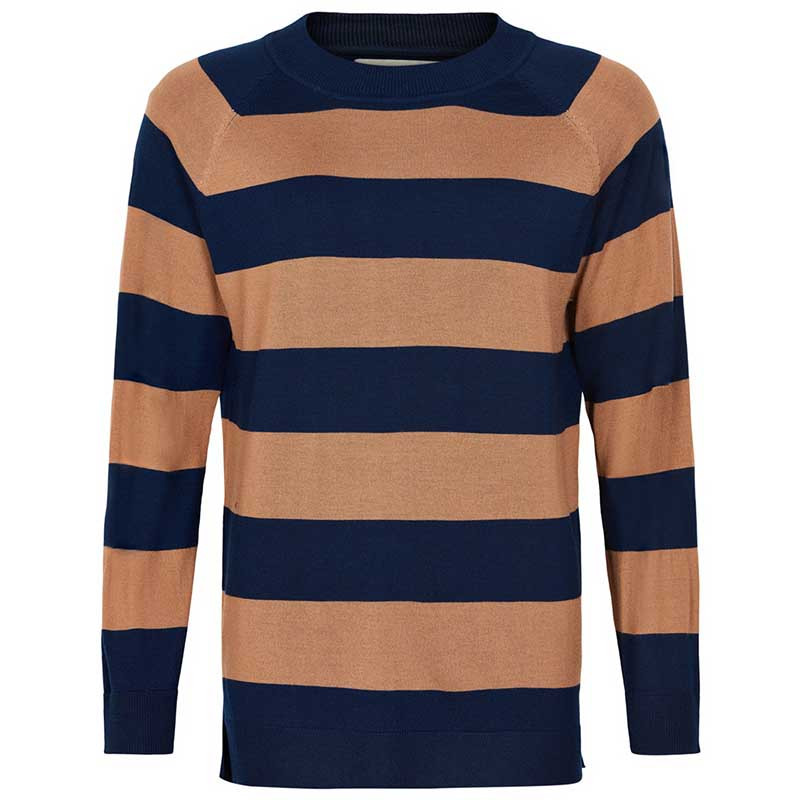 Image of And Less Strikbluse, Alshe Pullover, Blue Nights