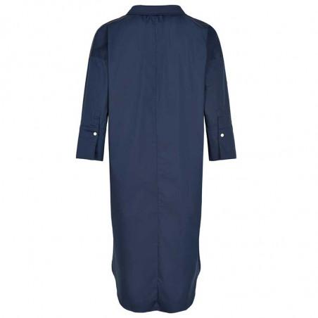 And Less Kjole, Alcaja, Blue Nights, bagside, skjortekjole, blå kjole