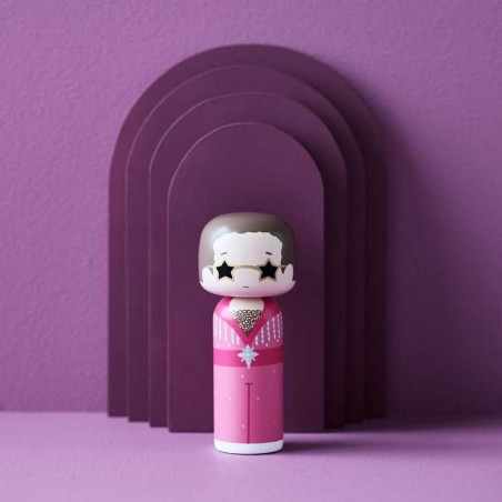 Lucie Kaas Kokeshi træfigur Elton i Pink