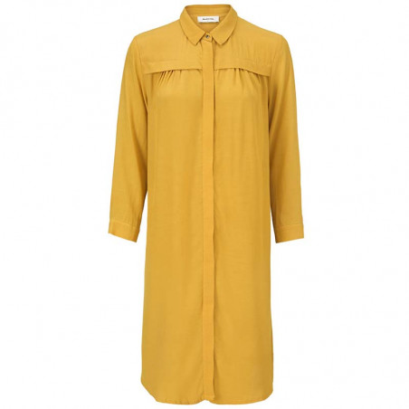 Modström Kjole, Marlon, Harvest Gold, skjortekjole, gul kjole, Modstrøm kjole