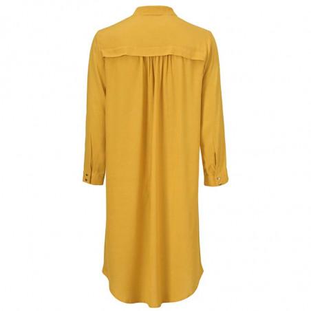 Modström Kjole, Marlon, Harvest Gold, bagside, skjortekjole, gul kjole, Modstrøm kjole