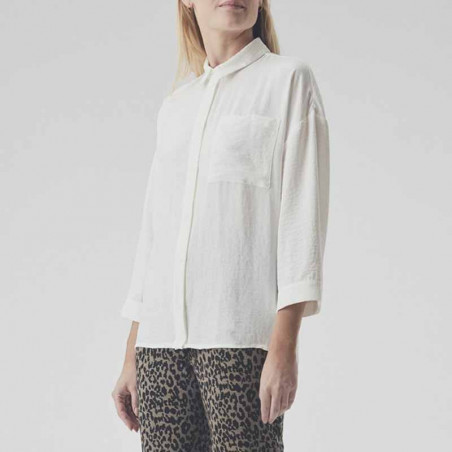 Modström Skjorte, Alexis, Off White, hvid skjorte, model