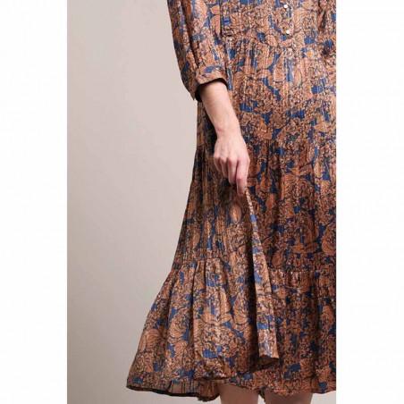 Lollys Laundry Kjole, Olivia, Flower Print, blomstret kjole, detalje