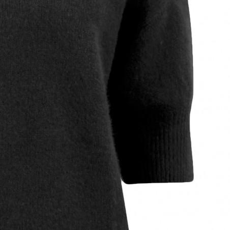 Six Ames Strik Moi, Black six ames bluse detalje