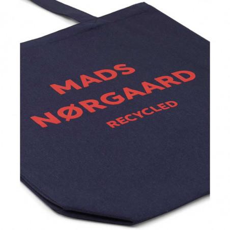 Mads Nørgaard Net, Athene Boutique Bag, Navy/Red, detalje, indkøbsnet, mulepose