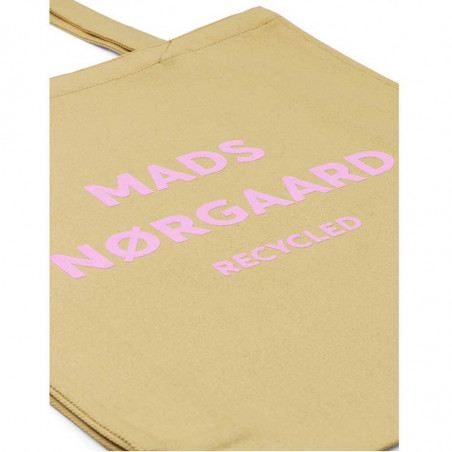 Mads Nørgaard Net, Athene Boutique Bag, Beige/Rose, totebag, mulepose, detalje