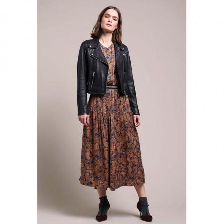 Lollys Laundry Nederdel, Cokko, Flower Print, model1,  blomstret nederdel, maxi nederdel