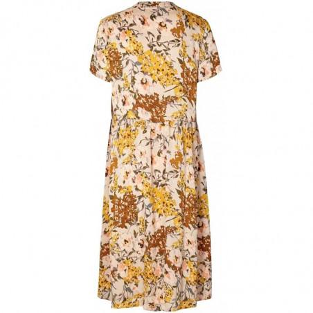 Lollys Laundry Kjole, Aliya, Flower Print, bagside, blomstret kjole, maxi kjole