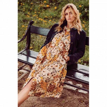 Lollys Laundry Kjole, Aliya, Flower Print, blomstret kjole, maxi kjole, model