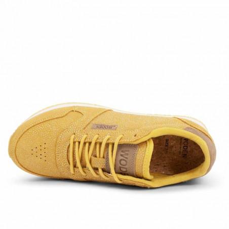 Woden Sneakers, Ydun Pearl, Super Lemon, oppefra, gule sneakers, damesneakers, Woden sko