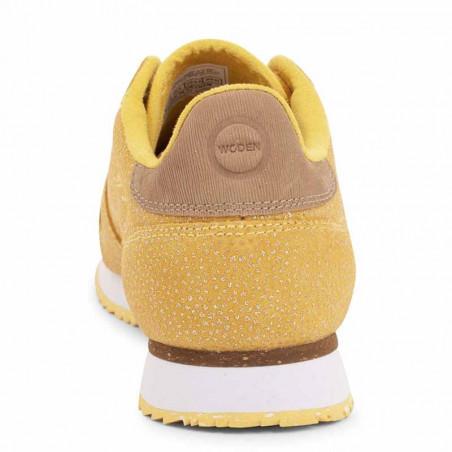 Woden Sneakers, Ydun Pearl, Super Lemon, bagfra, gule sneakers, damesneakers, Woden sko