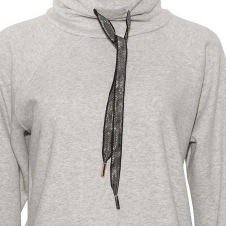 PBO Sweatshirt, Devant, Warm Grey Mel. pbo bluse detalje