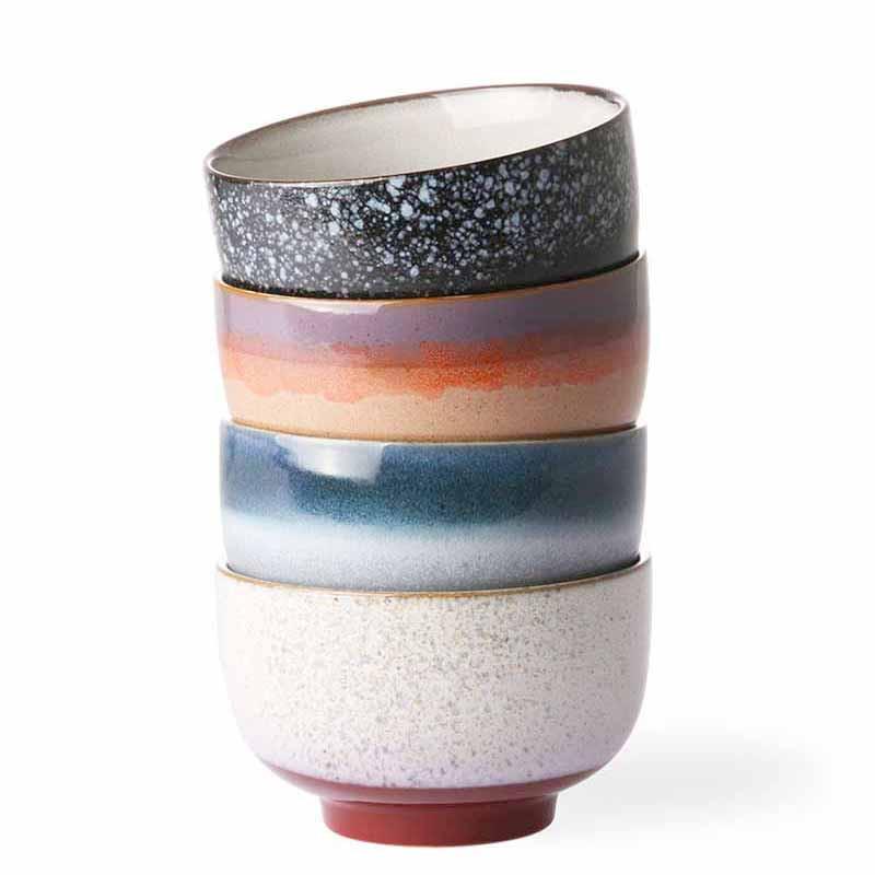 Hk living skåle, ceramic 70's large, sæt med 4 stk fra hk living fra superlove