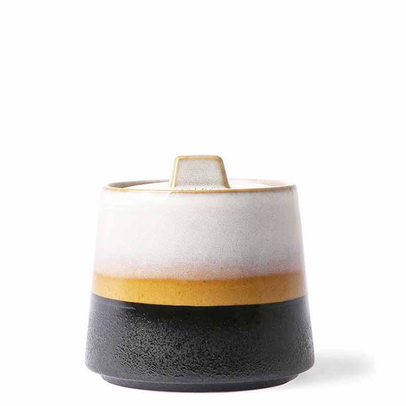 Image of   HK Living Sukkerskål, Ceramic 70s