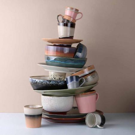 HK Living Kopper, 4 stk Ceramic 70's Espresso, Lava hk living dk hk living danmark stak