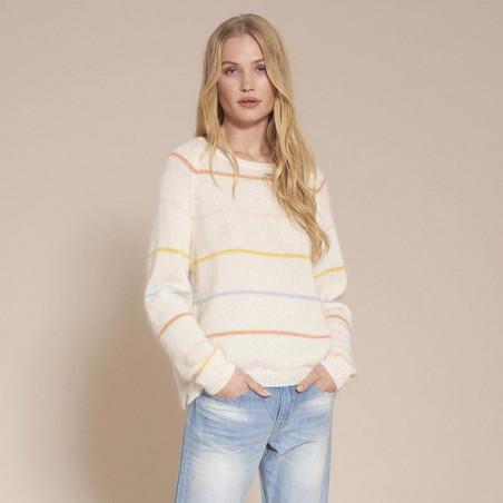 Sibin Linnebjerg Strik dame, Jayda, Off White model