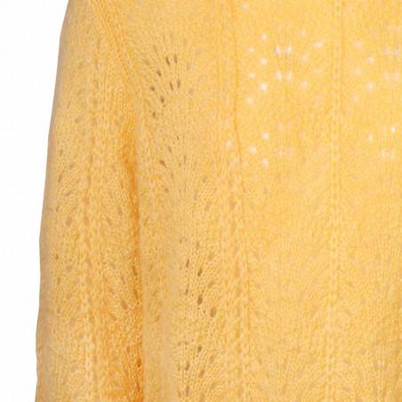 Sibin Linnebjerg Strik dame, Iris, Yellow detalje