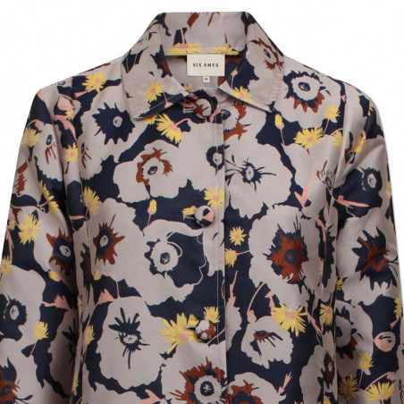 Six Ames Jakke, Githa, Blooming Jaquard six ames tøj detalje