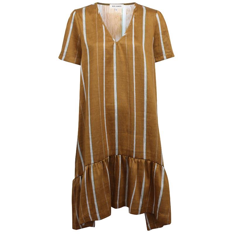 Image of   Six Ames Kjole, Helena, Japanese Summer Stripes