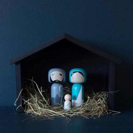 Lucie Kaas  X-mas Træfigurer fra Kokeshi