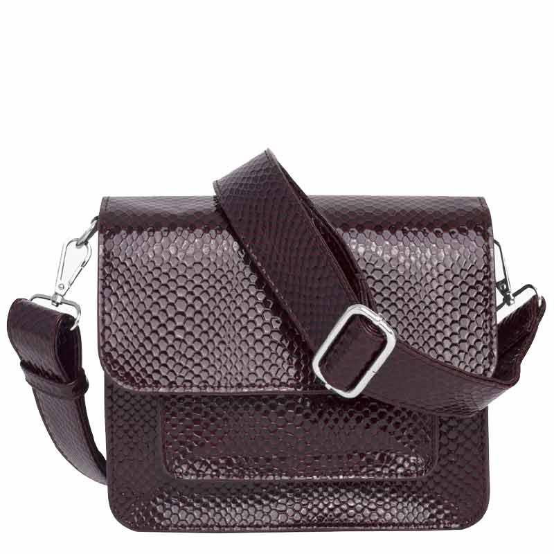 Hvisk Taske Cayman Pocket Boa, Burgundy hvisk cayman taske hvisk tasker