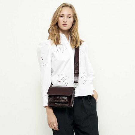Hvisk Taske Cayman Pocket Boa, Burgundy hvisk cayman taske hvisk tasker model