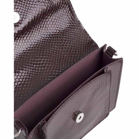 Hvisk Taske Cayman Pocket Boa, Burgundy hvisk cayman taske hvisk tasker detalje