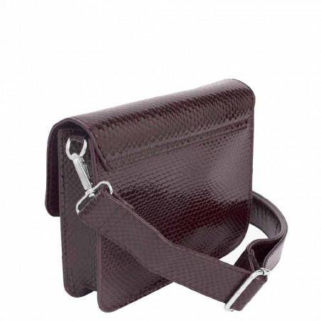 Hvisk Taske Cayman Pocket Boa, Burgundy hvisk cayman taske hvisk tasker bagside