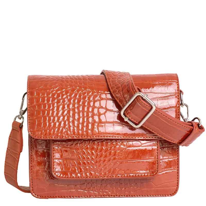 Hvisk Taske Cayman Pocket, Chestnut hvisk cayman taske hvisk tasker